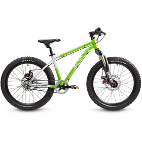 "Early Rider Hellion Trail MTB Hardtail 20"" Kids brushed aluminum/lime"